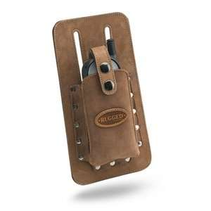 Rugged Universal Toolbelt Cell Phone Pouch  Large Nubuck
