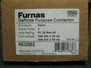Furnas Definite Purpose Contactor Part# 45EG20AG NIB