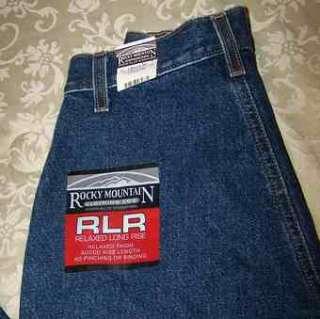 Rocky Mountain Jeans * Long Rise * 4 x 33 * nwt
