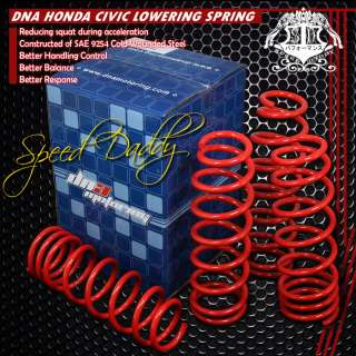 SUSPENSION LOWERING SPRING SPRINGS JDM HONDA CIVIC/INTEGRA/DELSOL RED