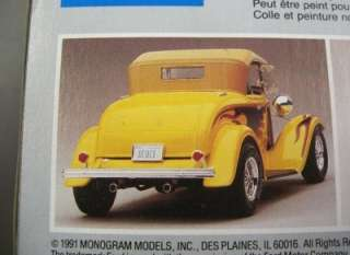 32 Ford Roadster Street Rod Model Car Kit 1/24 Monogram