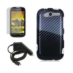 HTC MYTOUCH 4G BLACK GRAY DIAGONAL LINES CASE, RAPID CAR