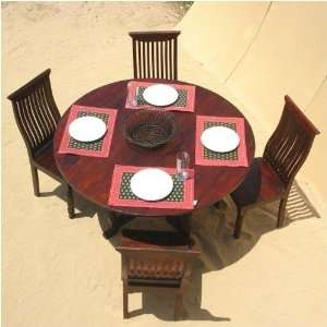 Solid Wood Kitchen Round Dining Dinette Breakfast Table