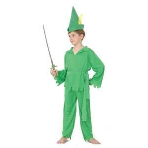 Peter Pan/Robin Hood Childs Fancy Dress Costume S 122cm