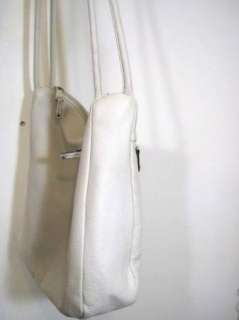 TIGNANELLO Womens Cute White Leather Oversized Satchel Purse Tote