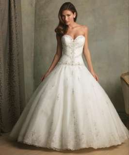 Gorgeous Sweetheart Organza Satin Wedding Dress Puffy Ball Bridal Gown