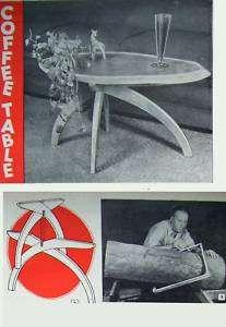 Build COFFEE TABLE from HARDWOOD LOG 1948 DIY PLANS