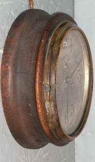 Seth Thomas Round Oak Wall Clock Double Spring No 10 Mechanism Works