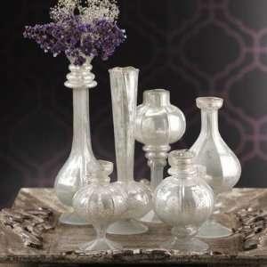 Golden Treasures Silhouette Antique Glass Bud Vase (Set of