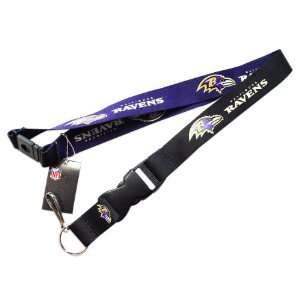 Baltimore Ravens Reversible Clip Lanyard Keychain Id