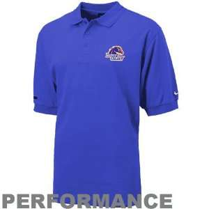 Boise State Broncos Royal Blue Dri Fit Text Polo