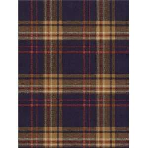 Wallpaper Navy Blue, Red and Tan Plaid