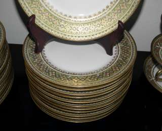 Antique Bernardaud Limoges Porcelain Salad Plate Set of 10 NR