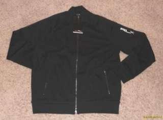 NWT $145 Ralph Lauren RLX Logo Black Track Jacket Small