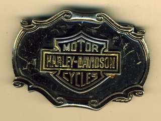 VTG 1978 HARLEY DAVIDSON Logo Belt Buckle Raintree