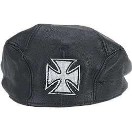 HMB 903B NEWSBOY LEATHER CAP HATS IRON CROSS GOLF CAPS