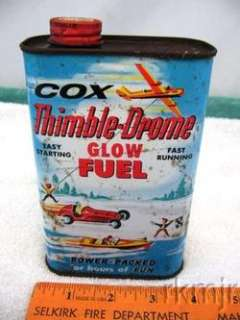 Cox Thimble Drome Glow Fuel 1 Pint Tin Can
