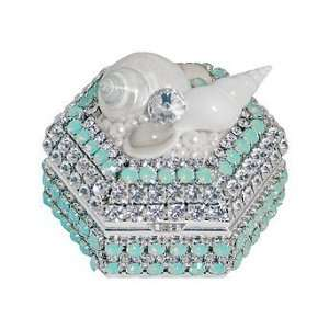 Pacific Opal Crystal Hexagon Box   Frontgate   Christmas