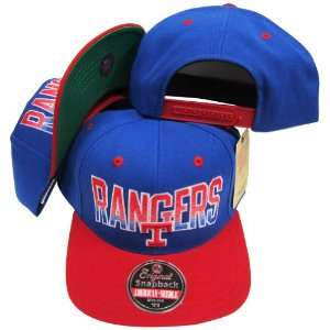 New York Rangers Blue/Red Two Tone Adjustable Plastic Snap