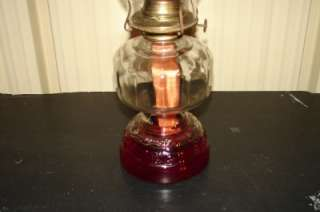 Vintage Glass Eagle Oil Lamp w/Shade |