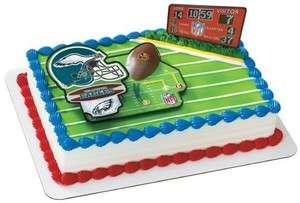 NFL Philadelphia Eagles Football Touchdown Cake Decoration Topper Set
