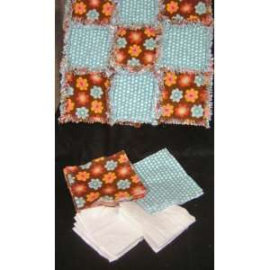 Dot Pre Cut/Fringed Rag Quilt Kit (one kit): Arts, Crafts & Sewing