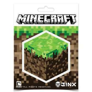 Officially Licensed Minecraft Dirt Block Sticker Pack w