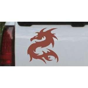 Brown 8in X 6.9in    Tribal Dragon Car Window Wall Laptop