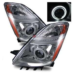 06 09 Toyota Prius CCFL Halo Projector Headlights   Chrome