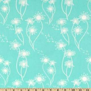 44 Wide Michael Miller Flora And Fauna Dandelion Turquoise Fabric By