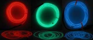 New 9M RGB EL Wire String Neon Light Strip D2.3 +Driver