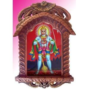 Pawan Putra Lord Hanuman Showing Sita Ram in His Heart