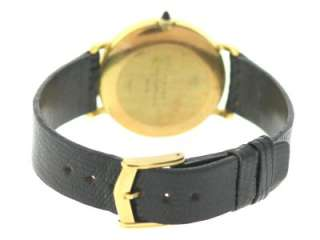 Weil Geneve 18K Yellow Gold Electroplated Manual Winding Leather Watch