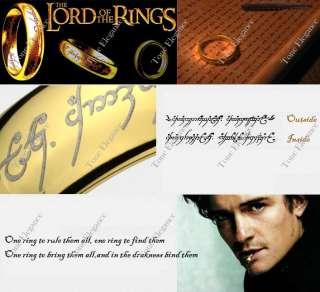 LOTR Mens Wedding Tungsten white gold GF solid ring sz8