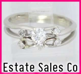 14kw Gold 2 Piece Round Diamond Wedding Ring Set .32ct