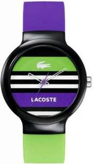 New Lacoste 2020007 Goa Purple / Green / Black Striped Dial Ladies