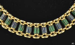 Erwin Pearl Gold Toned Enameled Choker Necklace