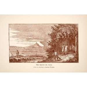 1892 Print Grotta del Cane Pozzuoli Italy Poisonous Gas Cave Raphael