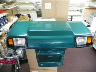CLUB CAR GOLF CART NEW FRONT BODY COWL GREEN With LIGHTS # CC FRONT