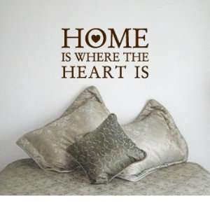 IS WHERE THE HEART IS   House Love Family Design   Vinyl Wall Room
