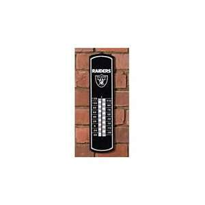 OAKLAND RAIDERS Team Logo WOODEN WALL THERMOMETER (24 Tall & 6 Wide