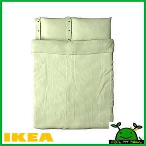 Ikea Nyponros Duvet Cover w/Pillowcase(s) Green/White (King, Queen