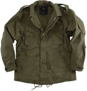 REPLICA M 51 FIELD COAT OLIVE GREEN COTTON SATEEN PATCHES