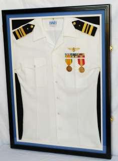 US Navy Air Force Uniform Display Case Frame matting