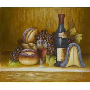 Art Reproduction Oil Painting   Cuisine Fruit and Wine