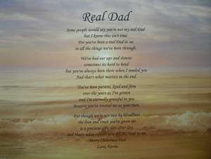 REAL DAD PERSONALIZED STEP DAD POEM BIRTHDAY, FATHERS DAY OR