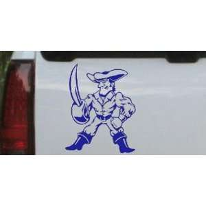 Buff Pirate With Sword People Car Window Wall Laptop Decal Sticker