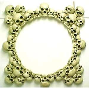 Large Piled Evil Skulls Wall Mirror Wicked Skull