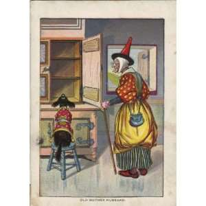 1896 Color Print Of old Mother Hubbard 5 1/4 X 7 1/2