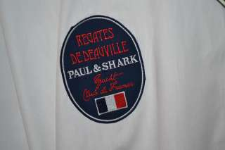 PAUL & SHARK YACHT CLUB YACHTING WHITE BLUE LONG SLEEVE COTTON SHIRT